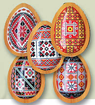 Set of 5 Pysanka Magnets