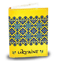 Blue/Yellow Embroidered Card Wallet