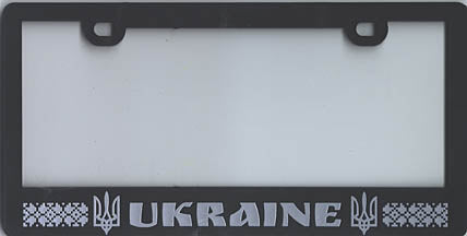 License Plate Frame (black)