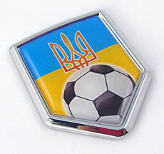 Ukrainian Soccer Shield Decal