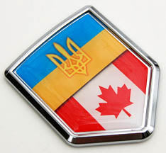 Ukraine/Canada Chrome Decal