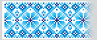 Blue Embroidery Vinyl Decal