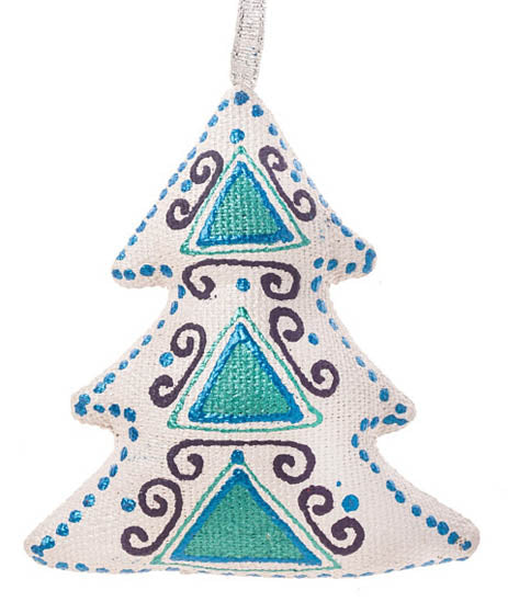Christmas Tree Ornament - Turquoise Blue