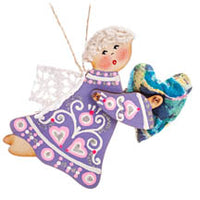 Lilac Angel Ornament - Friendship