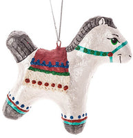 Storybook Horse Ornament - Sculpted