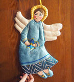 Blue Angel Christmas Decoration
