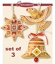 GOLD ORNAMENT SET (3)