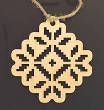 Wooden Ornament - Embroidery Cutout Design 1