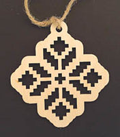 Wooden Ornament - Embroidery Cutout Design 2