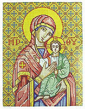 Virgin Mary - cross stitch pattern