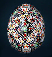 Embroidered Sleeves - Chicken Pysanka