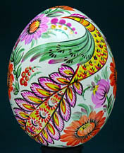 Graceful Bird - Wood Pysanka