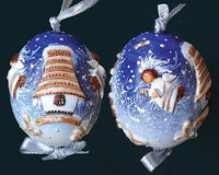 Christmas Angel Dough Ornament  Pysanka
