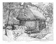 Water Mill (9x7 in)