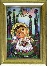 Angel in a Forest of Pysanky