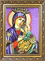 Bohorodytsja small glass icon (6.25x8 in framed)