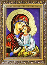 Zamyluvannja small glass icon (6.25 x 8 in)