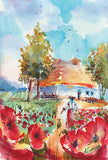 Red Poppies Bloom - Makovyj Tsvit Giclee Print