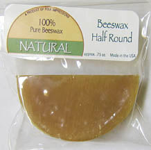 Natural Beeswax Half Round .8 oz