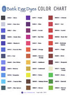 Artistic Dye Color Chart