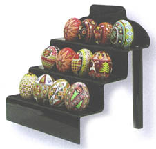 12 Egg Lucite Step Stand - Black