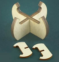 Set of 10 Wood Stands