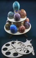 Wooden Pysanka Stand  for 12+1 eggs