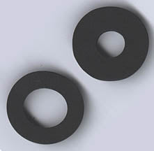 Black Foam Rubber Washer for Craft Lathe