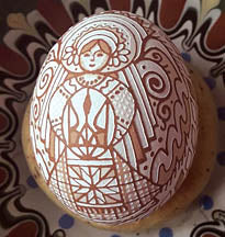 Etched Angel Pysanka