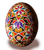 Artistic Floral and Star Pysanka