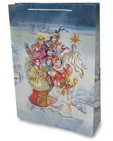 Carollers Gift Bag - 12.5 x 17.5 in