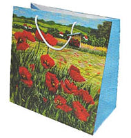 Poppies - Gift Bag 9 x 9 in.