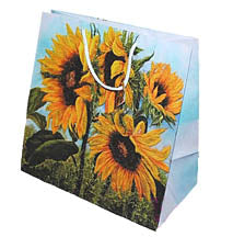 Sunflower Splendor Gift Bag 9x9 in
