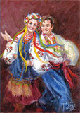 Ukrainian Dance Art Card 5x7