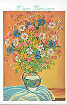 Wedding Card - Colorful Bouquet #2