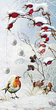 Bird in Snow 4x8 Christmas card