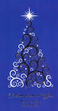 Christmas Card - Silver Tree