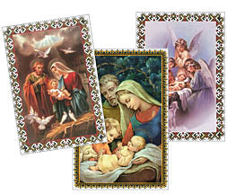 Religious Christmas Cards (set 12) - Bilingual
