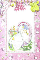 Christening Bilingual Card - Girl