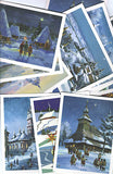 Traditional Christmas Cards - Paintings (set 12)
