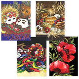 Assortment of Colorful Art Cards (4 cards)