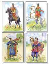 Set of 4 Kozak Art Cards