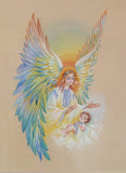Angel Christening Card 5x7