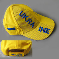 Yellow Ukraine 3-D Hat for Youth-Kids