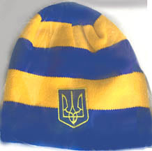 Blue-Yellow Striped Knit Hat