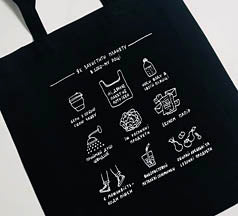 Ukraine Eco-Tote Black Bag