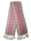 White Acrylic Embroidery Design Scarf
