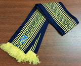 Navy Blue-Yellow Knit Scarf