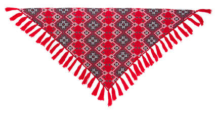 Red Triangular Shawl - wool blend