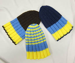 Adult Blue-Yellow Knit Hat